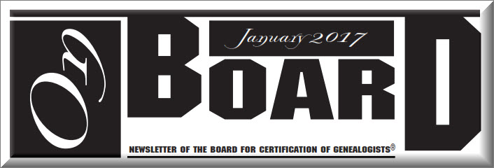Coming from OnBoard, January 2017 – Board for Certification of ...