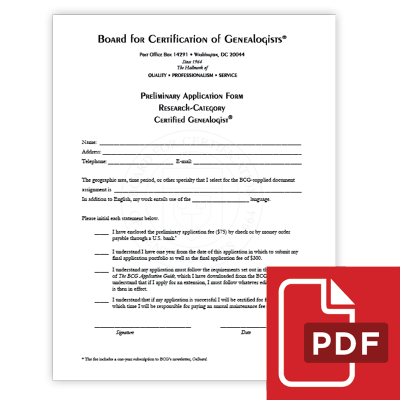 BCG Learning Center – Board for Certification of Genealogists