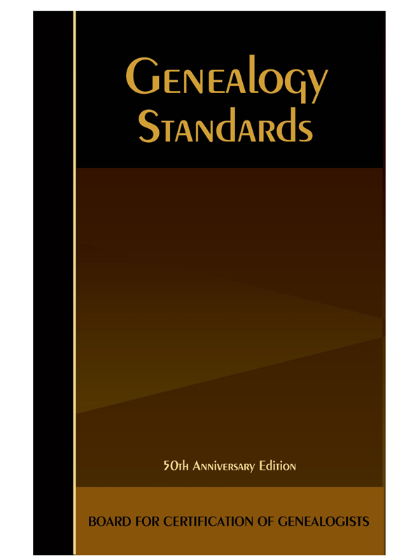 genealogy standards fiftieth anniversary edition 2014 board for