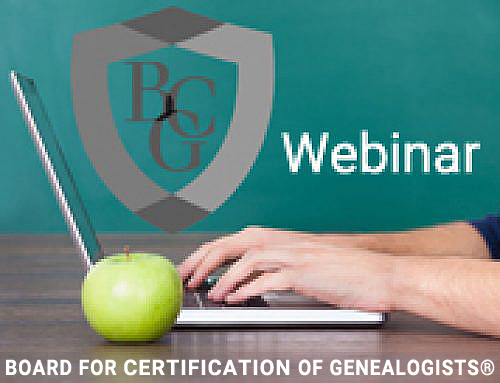 "BCG Offers Free Webinar: ""It's a Numbers Game! Understanding Recognized Genealogical Formats"""