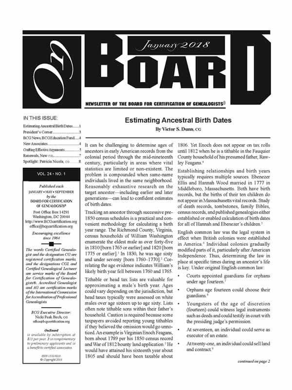 OnBoard Back-Issue—Volume 17:1-3, 2011 – Board for Certification of ...